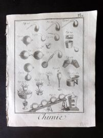 Diderot 1780's Antique Print. Chimie 11 Chemistry
